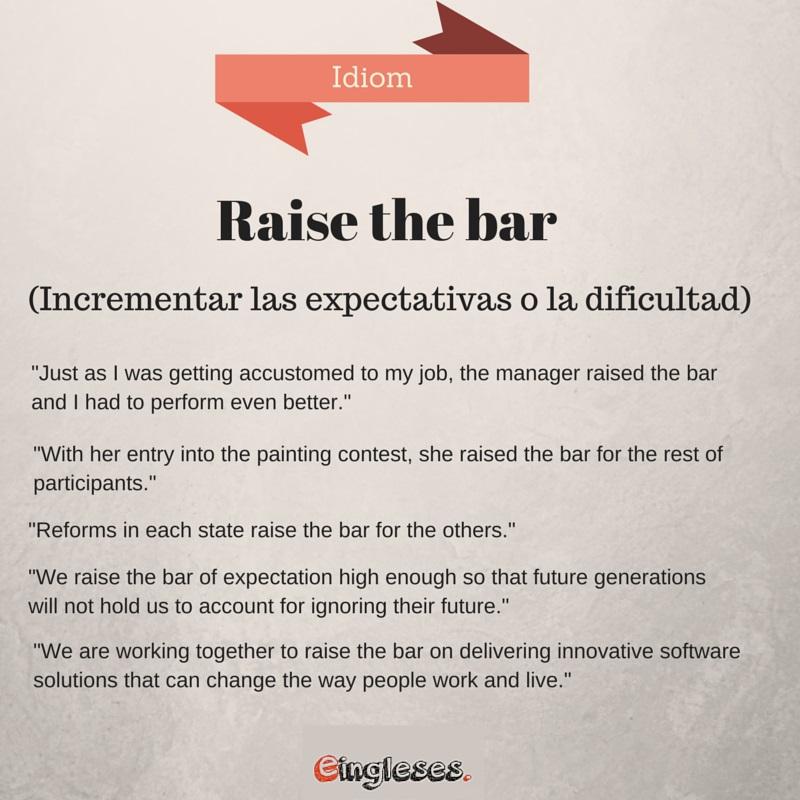 Raise the bar