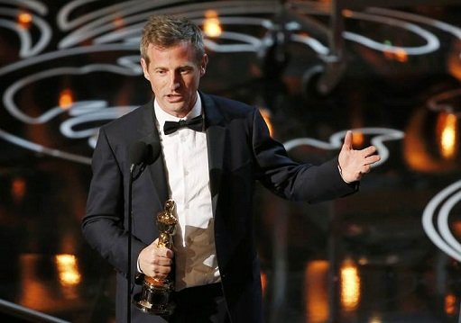 "Jonze, winner original screenplay for ""Her"", speaks on stage at the 86th Academy Awards in Hollywood"