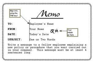 How to write memoranda