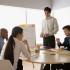 Four entrepreneurs at a meeting