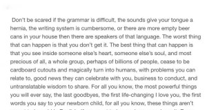 if you want to learn a language